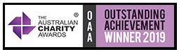 The Australian Charity Awards Outstanding Achievement Winner 2019 graphic